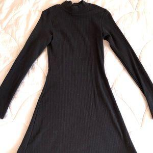 Black mock neck seamless dress